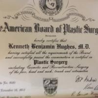 Dr. Kenneth Benjamin Hughes American Board of Plastic Surgery Award 141