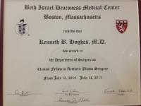 Dr. Kenneth Hughes Harvard Medical School Aesthetic Fellowship Diploma 6