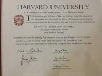 Dr. Kenneth Hughes Harvard University Diploma 8